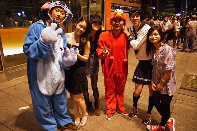 dressed up for Halloween in Taipei, Taiwan