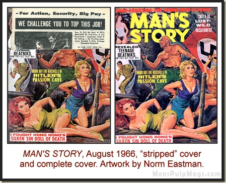 MAN'S STORY, August 1966, cover by Norm Eastman