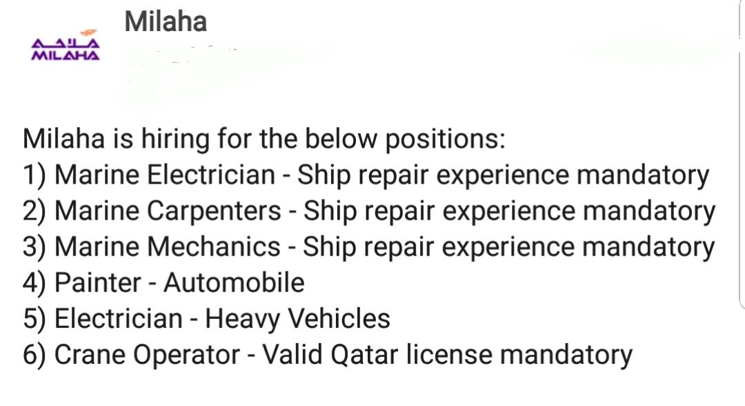 Oil and Gas Jobs: Jobs in Qatar