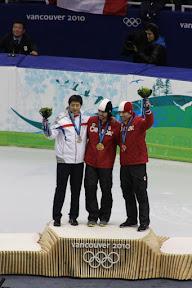 Medallists in men's 500m short track