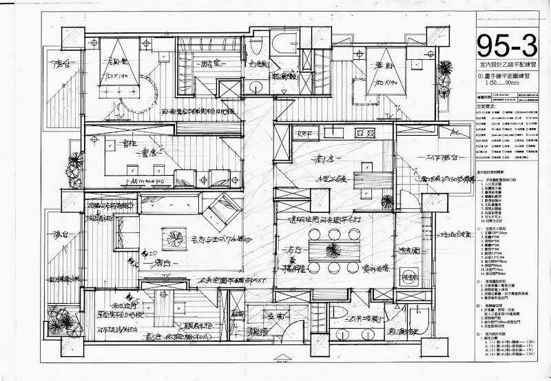 劉興衡室內設計乙級考試 基礎平面製圖法