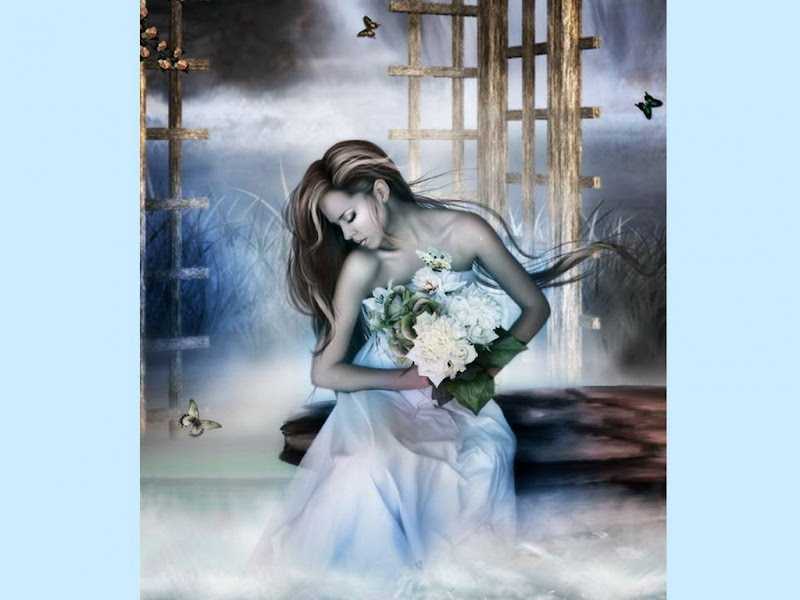Bride With White Flowers, Magic Beauties 3