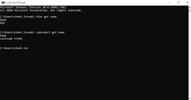 Lệnh xem thông tin PC/Laptop bằng CMD - Command Prompt