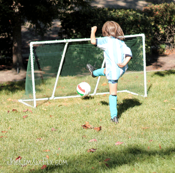 DIY soccer net inexpensive