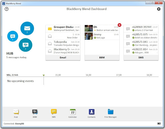 blackberry blend dashboard