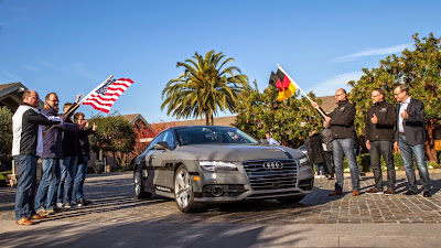 Audi A7 Piloted Driving Concept Drives Silicon Valley to Las Vegas Drive 16
