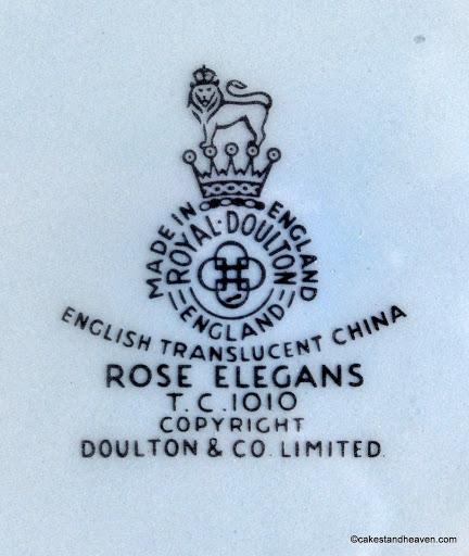 Royal Doulton 1960s Backstamp