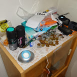 messy cabinet in my apartment in Tokyo, Tokyo, Japan