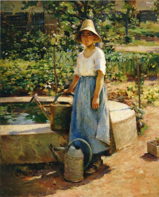 Theodore Robinson - At the Fountain