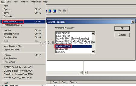 ASE2000 - Select Protocol