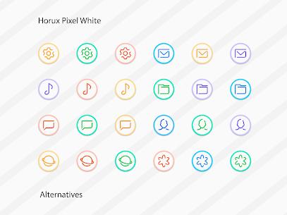 Horux White – Round Icon Pack (MOD, Paid) v2.2 4