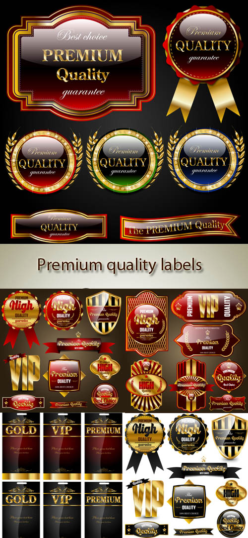 Stock: Premium quality labels and ribbons