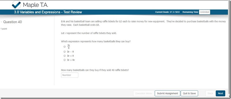 unlock math review screenshot small type