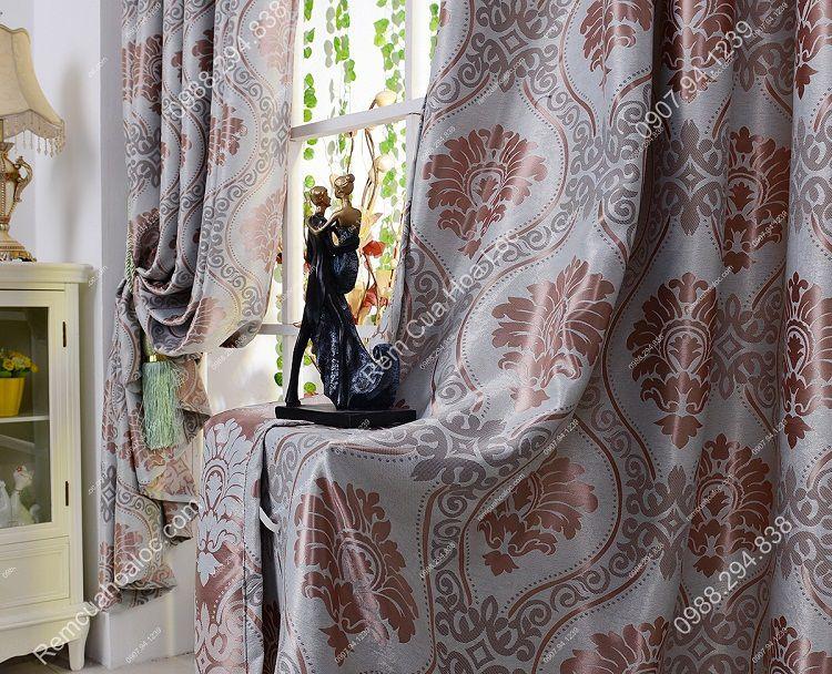 Rèm cửa sổ đẹp hà nội họa tiết phương đông 2