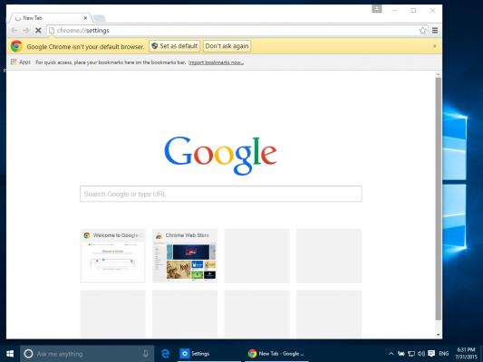 Where is the minimize button on Chrome/Windows 19? - Google