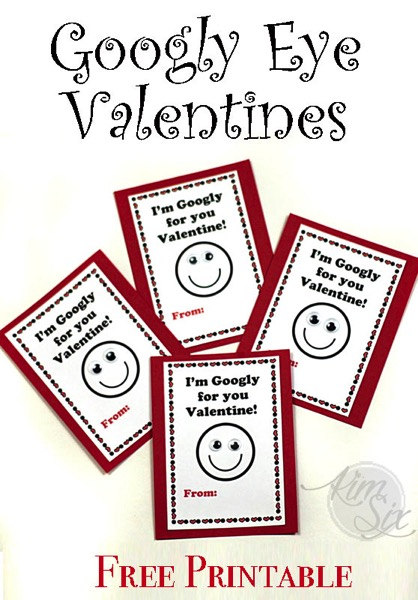 Free Googly Eye Valentine Printable