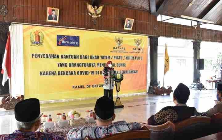 Pemkab Pekalongan Support Anak Yatim Terdampak Covid -19 Lanjutkan Pendidikan Dengan Menggandeng Baznas Provinsi Jateng...