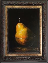 Pear in Glass Framed