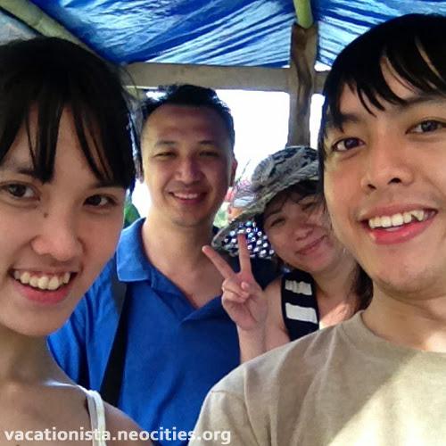 Steve, Alexia, Kusuma, and Memey on the boat