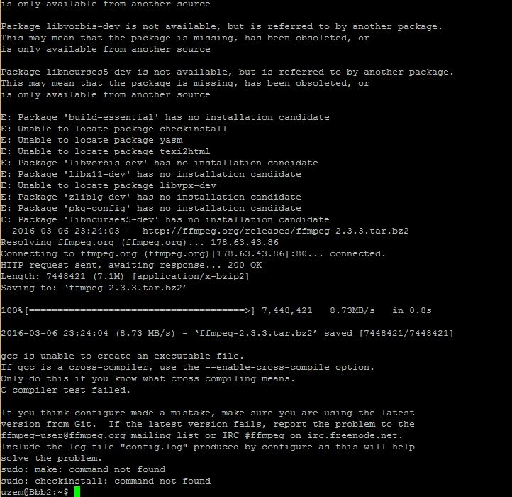 ffmpeg install error Ubuntu 14 04 01 - Google Groups