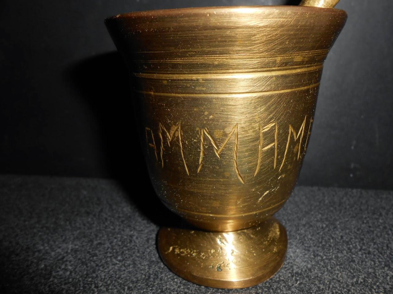 Ancien mortier pilon bronze objet de cuisine deco maghreb hammamet tunisie arabe ebay - Objet de cuisine ...