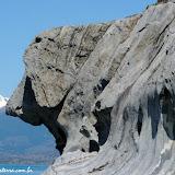 Perfil de cão, Cuevas de Mármol,  Lago General Carrera, Puerto Rio Tranquilo, Chile