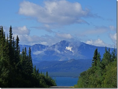 Kinaskan Lake and Mount Edziza, Cassiar Highway