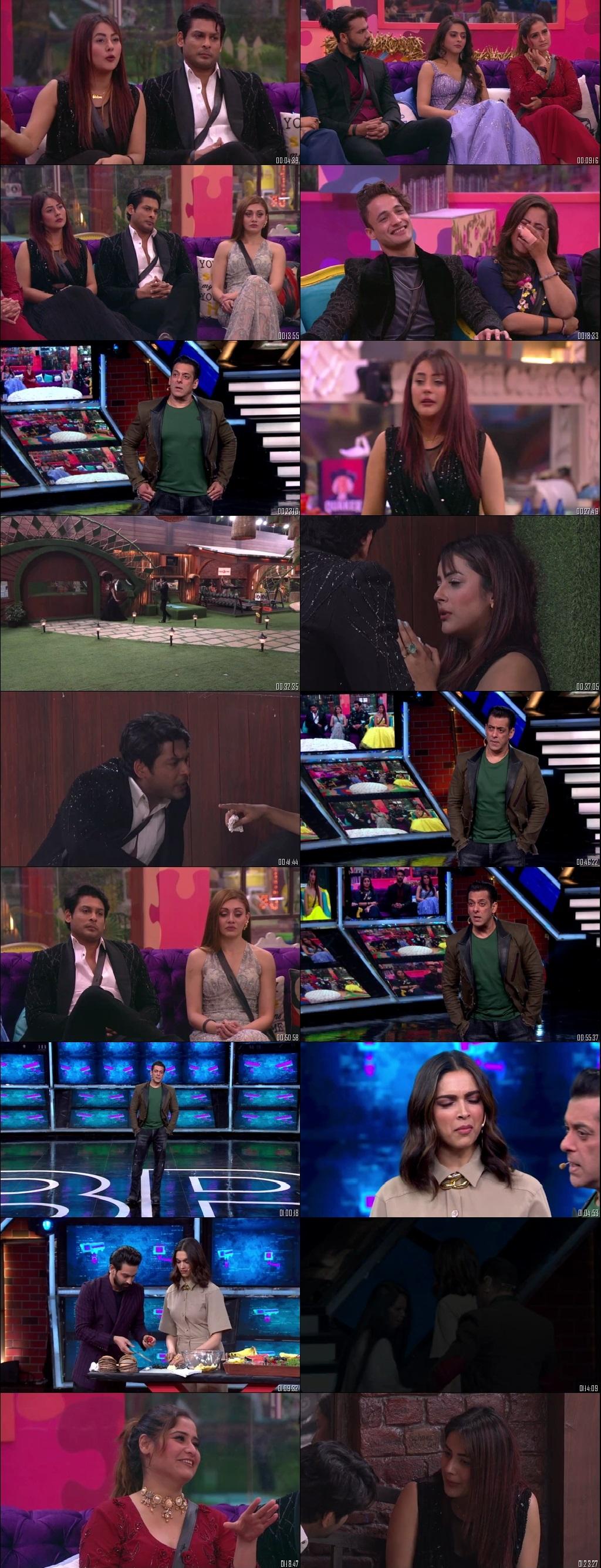 Screenshots Of Hindi Show Bigg Boss 13 12th January 2020 Episode 103 300MB 480P HD