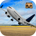VR Airplane Flight Simulator Icon