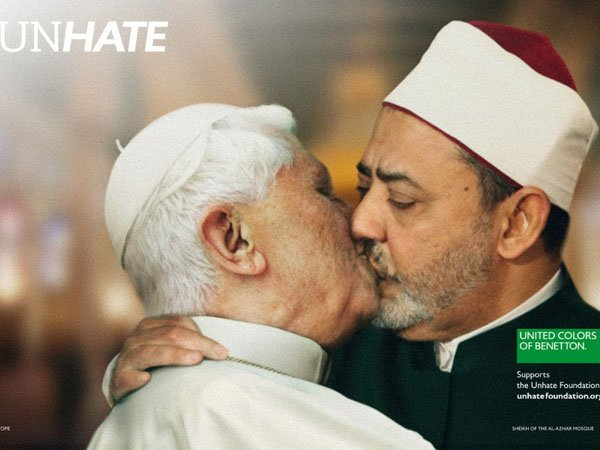 Benetton Controversial UNHATE Ads