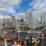 Vancouver skyline in Vancouver, British Columbia, Canada