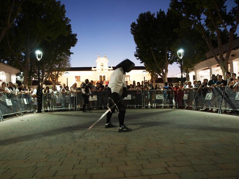 Exhibición del manejo del Montante en la Feria de Albacete del 2011