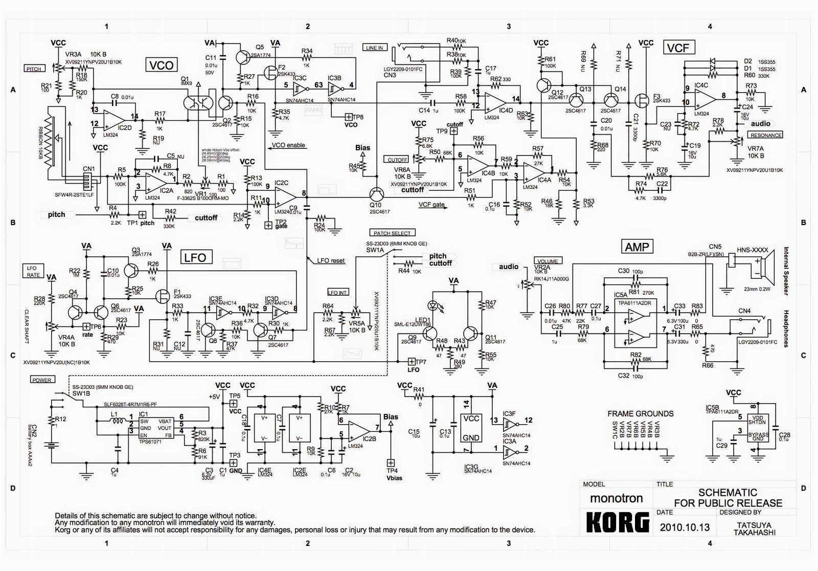 monotron_sch+%25281%2529 Korg Monotron Schematic on