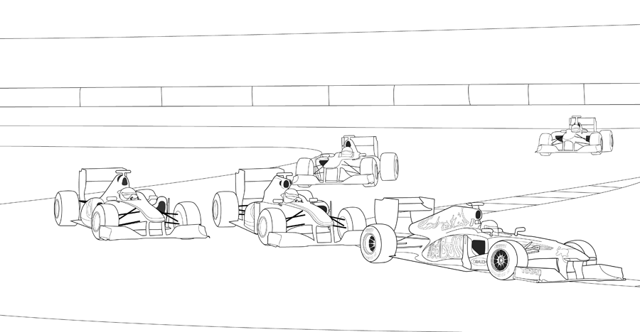 F1 Race Coloring Page Car Coloring Pages