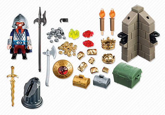 Contenido real de Playmobil® 6160 Guardián del Tesoro del Rey