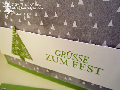 Stampin' Up! Christmas, Weihnachten, Weihnachtskarte, Zauber der Weihnacht, Schneekristall-Karte, DP Stille Nacht, Snowflake Card, DSP All is calm, Bright & Beautiful