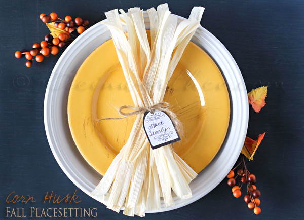 Corn Husk Fall Tablesetting