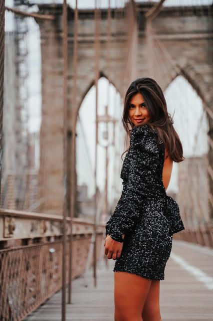 Kelly Fountain wearing LPA and Bvulgari on the Brooklyn Bridge
