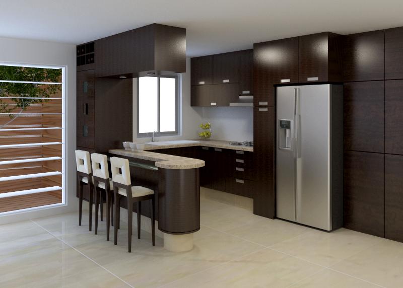 Cm carpinteria proyectos for Diseno de cocina integral casa pequena