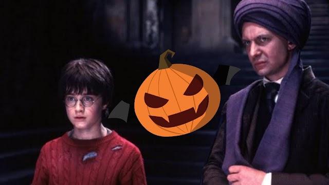 Também no Halloween Quirrell libertou um Trasgo para provocar distração enquanto tentava roubar a Pedra Filosofal