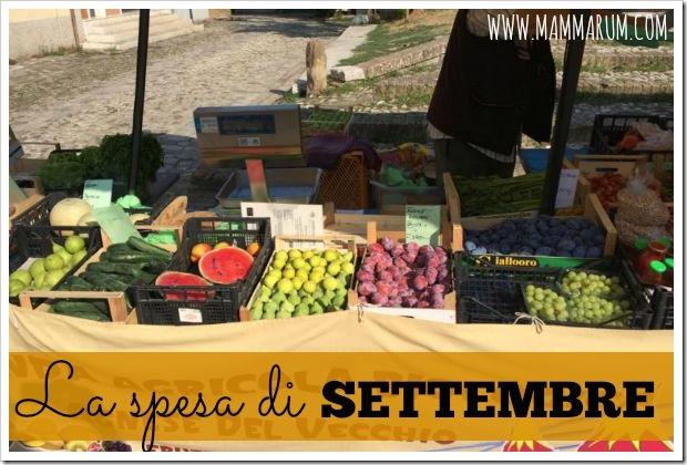 La spesa di stagione di settembre