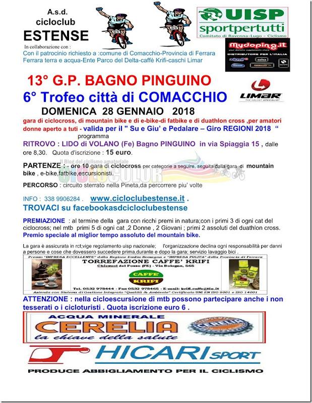 2018-01-28 UISP - Cross e MTB 13 GP Bagno Pinguino prova Su e Giù a Lido di Volano (FE) - Emilia-Romagna