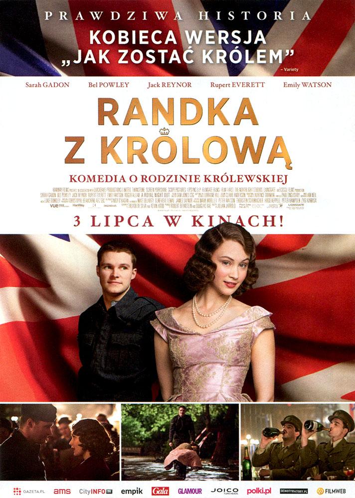 Ulotka filmu 'Randka Z Królową (przód)'