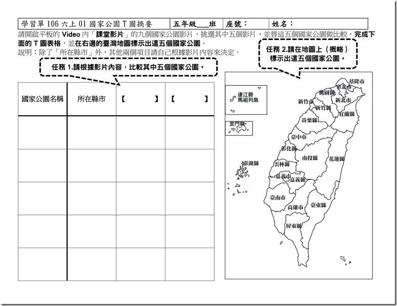 學習單106六上01國家公園T圖摘要_01