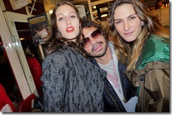 Anna Cleveland, Olivier Zahm and a friend