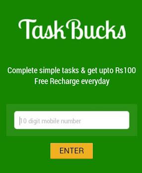 Earn paytm cash by taskbucks app