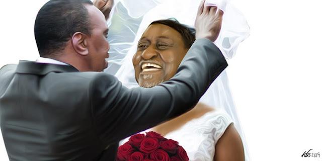 Artistic Photo of Uhuru and Raila in BBI.