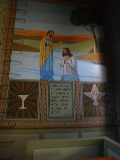 Vista da Parede Esquerda - O Batismo de Jesus por João Batista