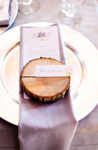 segnaposto matrimonio legno
