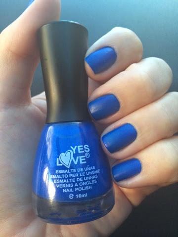Yeslove, Yes Love, esmalte, unha, matte, mate, fosco, azul, 7